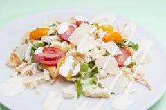 Vegetarian Caesar salad. On white plate Stock Photography