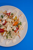 Vegetarian Caesar salad. On white plate Stock Image