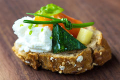 Vegetarian canape Royalty Free Stock Images