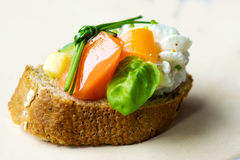Vegetarian canape Stock Images