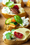 Vegetarian canape Stock Image
