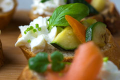 Vegetarian canape Stock Photography