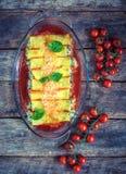 Vegetarian cannoli royalty free stock photos