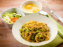 Vegetarian carbonara Stock Photos