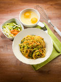 Vegetarian carbonara Royalty Free Stock Photo