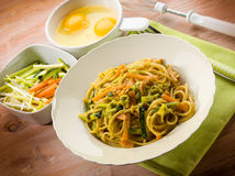 Vegetarian carbonara Royalty Free Stock Image