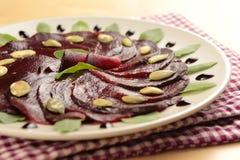 Vegetarian carpaccio Stock Photos