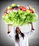 Vegetarian chef Stock Photos