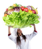 Vegetarian chef Royalty Free Stock Image
