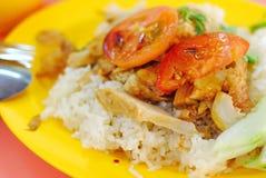 Vegetarian Chicken Rice Stock Images