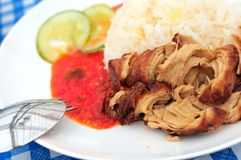 Vegetarian chicken rice delicacy Stock Photo