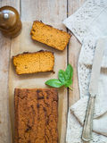 Vegetarian chickpea pate on a rustic table Stock Photo