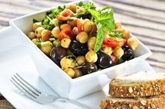 Vegetarian chickpea salad royalty free stock photo