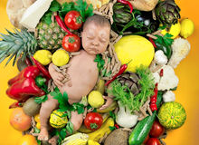 Vegetarian Child Stock Photo