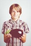 Vegetarian child Stock Image