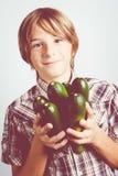 Vegetarian child Stock Photo