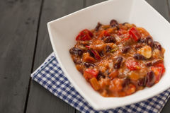 Vegetarian chili Royalty Free Stock Photo