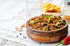 Vegetarian chili with cilantro Royalty Free Stock Photo