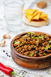 Vegetarian chili with cilantro Royalty Free Stock Photography