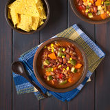 Vegetarian Chili Dish royalty free stock photography