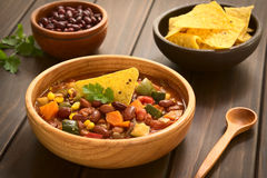 Vegetarian Chili Dish Stock Photos