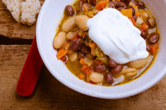 Vegetarian Chili with Pesto Stock Photography