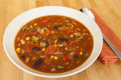Vegetarian Chili Soup Stock Image