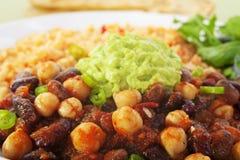 Vegetarian Chilli Beans Stock Photo