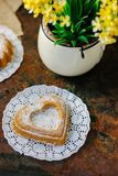 Vegetarian coockie in form of heart. Sweet Vegetarian coockie in form of heart Royalty Free Stock Photography