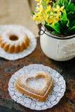 Vegetarian coockie in form of heart. Sweet Vegetarian coockie in form of heart Stock Photography