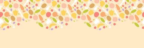 Vegetarian cooking horizontal seamless pattern vector illustration
