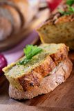 Vegetarian courgette pate on natural background Stock Images