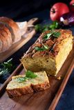 Vegetarian courgette pate on natural background Royalty Free Stock Photo