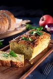 Vegetarian courgette pate on natural background Stock Photography