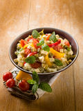 Vegetarian couscous with tofu Royalty Free Stock Photos