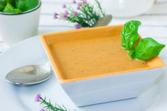 Vegetarian cream soup Stock Images