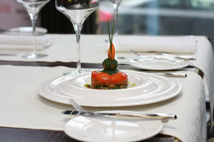 Vegetarian creative food in luxurious restaurant Stock Photo