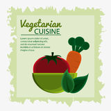 Vegetarian cuisine organic and healthy food design. Bowl and vegetables icon. Vegetarian cuisine organic and healthy food theme. Colorful design. Vector Royalty Free Stock Photography