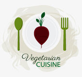 Vegetarian cuisine organic and healthy food design. Icon. Vegetarian cuisine organic and healthy food theme. Colorful design. Vector illustration Stock Images
