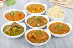 Vegetarian Curries Stock Image