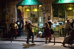 A dance bar in Pisa, tuscany IT stock photo