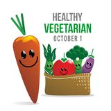 Vegetarian Day. Vector World Vegetarian Day October 1 Royalty Free Stock Image