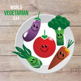 Vegetarian Day. Vector World Vegetarian Day October 1 Royalty Free Stock Photography