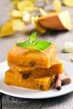 Vegetarian dessert pumpkin bars Stock Image