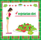 Vegetarian diet card Stock Photography