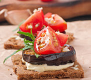 Vegetarian Diet Crispbread sandwiches Stock Photo
