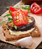 Vegetarian Diet Crispbread sandwiches Stock Photography