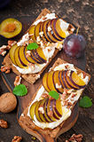 Vegetarian Diet sandwiches Crispbread Stock Photo