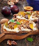 Vegetarian Diet sandwiches Crispbread Stock Photography