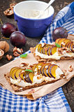 Vegetarian Diet sandwiches Crispbread Stock Photos
